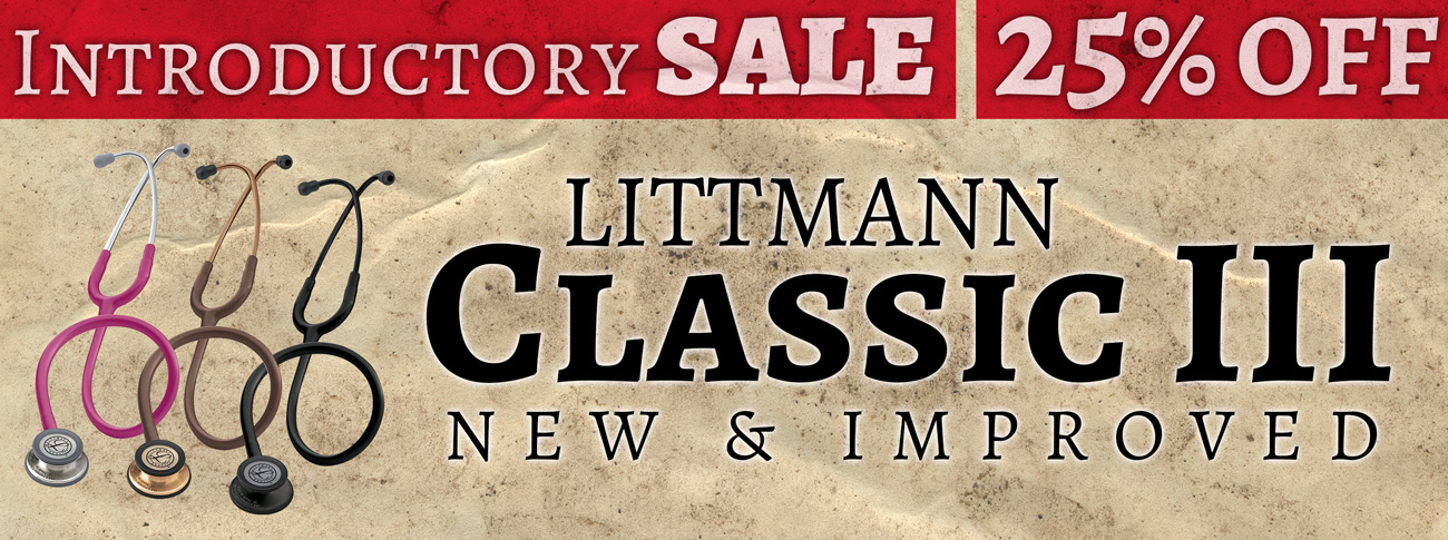 The All New 3M Littmann Classic III Stethoscope