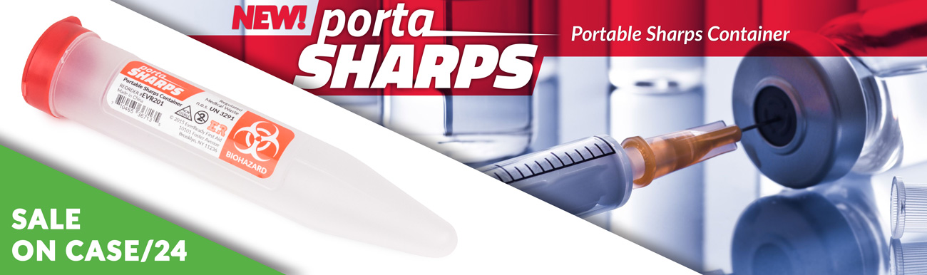 The new portaSharps Potable Sharps Container is ON SALE (By Case)